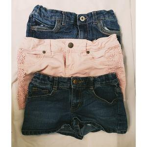 Bundle of 3 Girls Shorts - Size 7-8